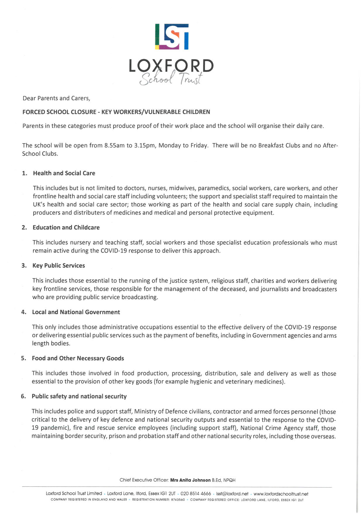 KEY WORKERS LETTER 2 1
